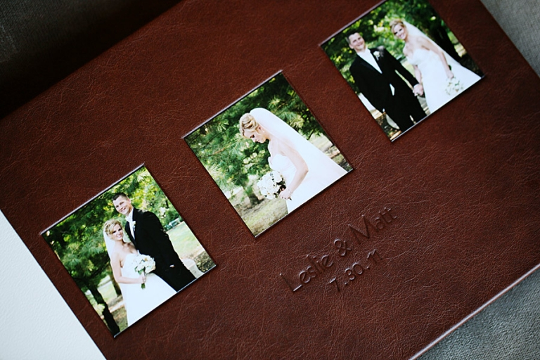 My Most Recent Sample Wedding Photography Leather Bridal Album